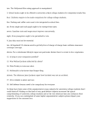 searching for some argumentative essay subjects for college universit 3 two