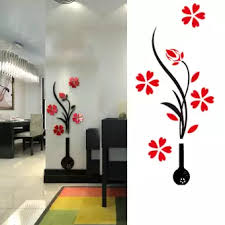 wallpaper for office wall. 1 PC 3D Acrylic Vase And Plum Flower Pattern Room TV Backdrop Entrance Home Office  Wall Wallpaper For Office Wall