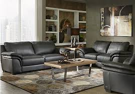 Shop for a Cindy Crawford Home Perugia Black Leather 3 Pc Living
