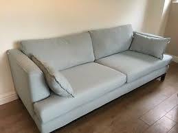 large seater sofa duck egg blue vgc
