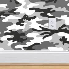 camouflage black white grey large