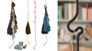 Hanging A Coat Rack Hanging Rope Coatrack Doesn't Waste an Inch Of Floor Space 36