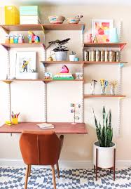 diy office decorations. Interesting Decorations DIY Home Office Decor Ideas  Mounted Wall Desk Do It Yourself Desks For Diy Decorations