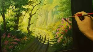acrylic landscape painting lesson road to cliffs in instructional tutorial by jmlisondra you