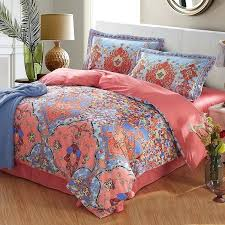 c and blue bedding c light and blue folklore flower print exotic style country chic cotton