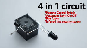 <b>4 in 1</b> circuit remote control switch | Automatic light <b>on</b>-off | fire alarm ...