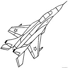 Coloriage Avion De Chasse 35 Jecolorie Com