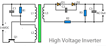 simple inverter circuit diagram using diode transformer simple inverter circuit diagram using diode transformer high voltage inverter simple inverter circuit diagram