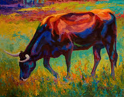 longhorn painting grazing texas longhorn by marion rose