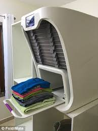 dryer that folds clothes. Users Simply Clip Their Freshly Washed Garments To The Integrated Rack Located On Outside Of Dryer That Folds Clothes
