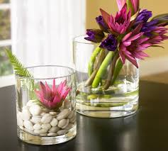 Flower Decoration In Glass Bowl