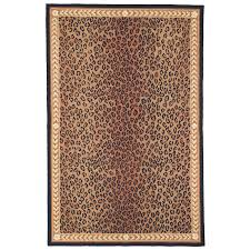 safavieh chelsea leopard black brown indoor handcrafted lodge area rug common 9 x