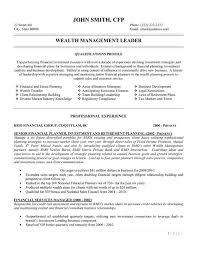 Wealth Management Resume Sample Techtrontechnologies Com