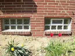 glass block basement window system basement egress window