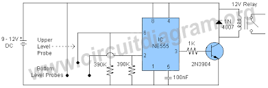 automatic water pump controller circuit diagram automatic water pump controller circuit diagram