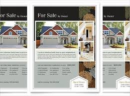 House For Sale Brochure Template House For Rent Flyer