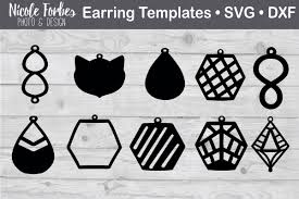 faux leather earring svg graphic by nicole forbes designs creative fabrica