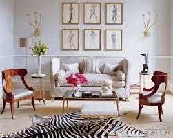 modern chic light blue living room with zebra hide rug and light blue area rug living