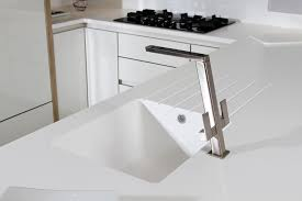kitchen design idea kitchen sinks integrated into the countertop