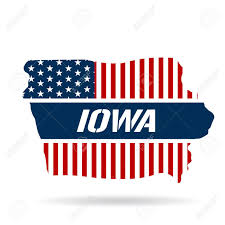 Graphic Design Iowa Iowa Patriotic Map Vector Graphic Design Illustration