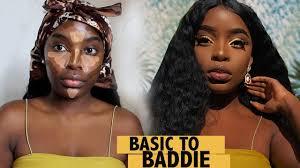 basic to bad makeup transformation dark skin makeup tutorial
