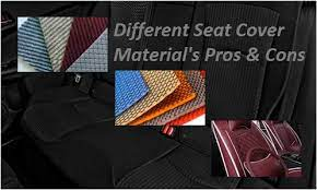 diffe seat cover material pros and cons
