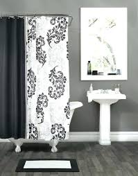 damask shower curtain black and white damask shower curtain black and white damask fabric shower curtain