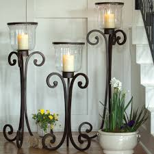 floor candle holder iron home design