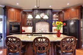 cherry kitchen cabinets black granite. example of a classic galley kitchen design in atlanta with raised-panel cabinets, black cherry cabinets granite f