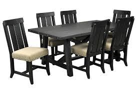 jaxon 7 piece rectangle dining set w wood chairs signature