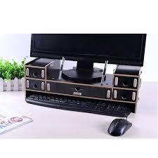 computer desk riser adjule wood computer monitor riser stand 5 drawer desktop organizer with pen slots computer desk riser