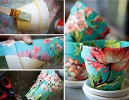 Paper Mache Flower Diy Paper Mache Flower Pot Do This With Christmas Wrapping Paper