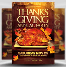 thanksgiving party flyer thanksgiving flyer templates for photoshop flyerheroes