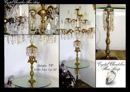 chandelier floor at crystal in
