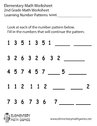 Pattern Maths Worksheets Math 2nd Grade Number Patterns Worksheet ...