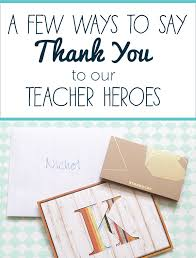 Thank You Letter To Teachers Impressive A Few Ways To Say Thank You To Teachers Ms Houser
