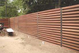 horizontal wood and metal fence. Delighful And Horizontal Shadow Box Fence The Austin Fence Company Installs Our  Fences On 4 X4 Posts Set 24 Inches Below Grade In Wet Mix Concrete And Wood Metal P