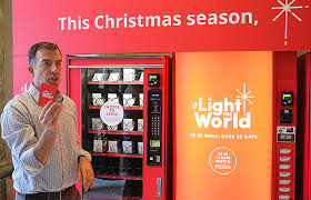Vending Machines Nyc Beauteous Light The World Vending Machines Offer Chance To Give Instead Of Get