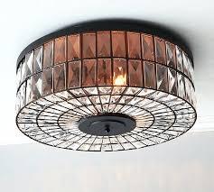 classic lighting crystal baskets light semi flush mount oversized pottery barn o