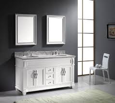 Virtu USA Victoria 60 Double Bathroom Vanity Set in White Bathtubs