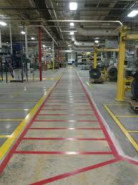 line striping at industrial facility st joseph mo