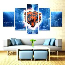 chicago bears wall art bears bedroom decor bears wall decor 5 pieces bears city wall art picture modern home chicago bears canvas wall art vintage chicago