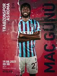 "Trabzonspor on Twitter: ""🔥 MAÇ GÜNÜ 🔴🔵 MATCH DAY ⚽ Trabzonspor 🆚 Roma  🗓️ 19.08.2021 Perşembe ⏰ 20.30 🏟️ Medical Park Stadyumu 📺 ATV 📲  #BugünGünlerdenTrabzonspor #ÇubukluForma… https://t.co/mJVOLptnST"""
