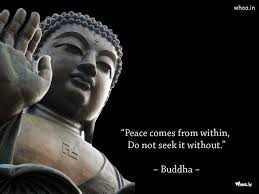 Statue Quotes Enchanting Lord Buddha Statue And Quote With Dark Background Wallpaper