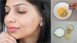 diy face mask for clear glowing skin turmeric yogurt lemon you