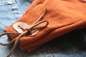 details about genuine open top bushcraft leather tinder pouch edc
