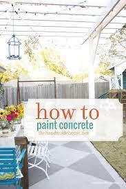 diy saay painted concrete patio