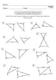 Live worksheets > english > math > triangles > congruent and similar triangles notes. Congruent Triangles Worksheets Math Monks