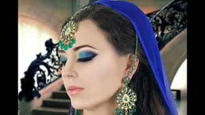 green and blue y eye makeup tutorial asian indian bridal