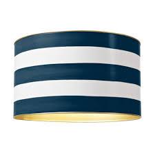 Down Pour Blue Stripe Drum Shade